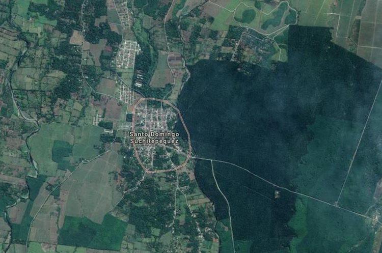 Lugar del hallazgo de los dos cadáveres, uno pertenece a un periodista de Coatepeque, Quetzaltenango. (Foto Prensa Libre: Google Maps)