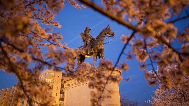 Estatua de Winfield Scott quien sirvió a su país como general por más tiempo que ningún otro en la historia de Estados Unidos. (GETTY IMAGES)