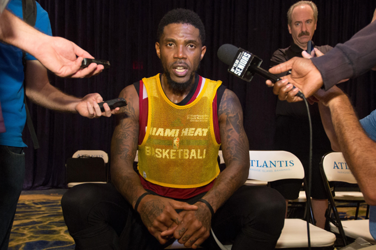 Udonis Haslem asegura que en los vestuarios de la NBA no se habla como lo hace Donald Trump. (Foto Prensa Libre: Hemeroteca PL)