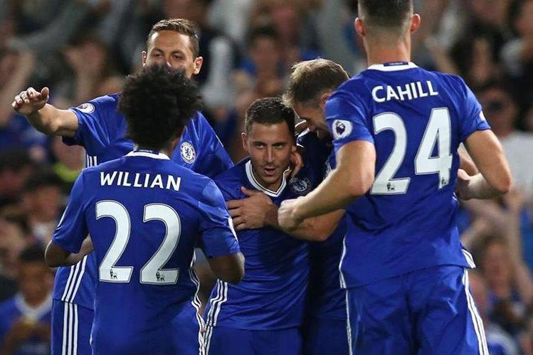 El Chelsea logró tres puntos importantes en el derbi capitalino. (Foto Prensa Libre: AFP)