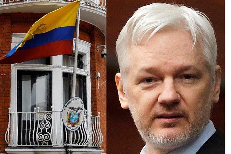 Julian Assange permanece refugiado en la embajada ecuatoriana en Londres desde el 2012. (Foto HemerotecaPL).