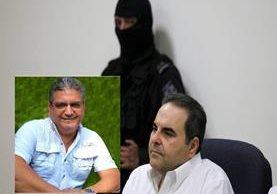 Óscar Mixco Sol,(i),cuñado de Antonio Saca y 10 personas más, fueron capturadas por actos de corrupción y lavado de dinero.(AFP).