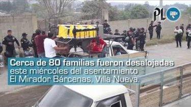 Desalojan a 80 familias