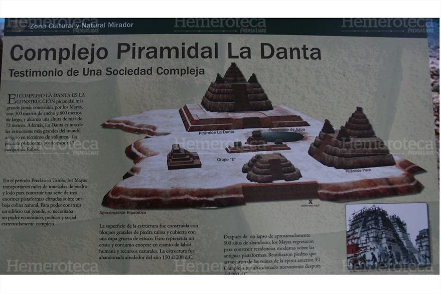 07/03/2009  Complejo de las pirámides La Danta, ciudad maya localizada en la selva petenera. (Foto: Hemeroteca PL)