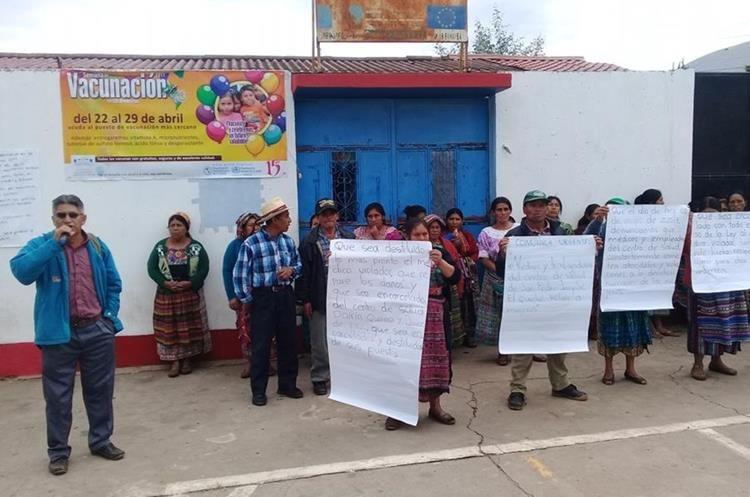 Luego de conocerse la denuncia, mujeres de Quiché han exigido justicia. (Foto Prensa Libre: Héctor Cordero)