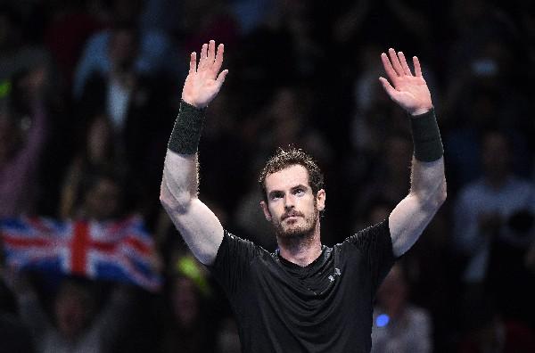 Andy Murray celebra el triunfo contra el croata Marin Cilic. (Foto Prensa Libre: EFE).