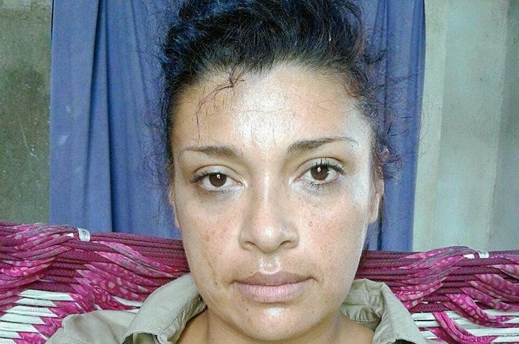 Ruth Noemí Caguech Croka, capturada en Champerico, Retalhuleu. (Foto Prensa Libre: Hemeroteca PL)