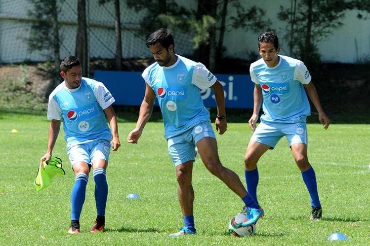 La Bicolor afina detalles previo al juego contra Trinidad y Tobago el dos de septiembre. (Foto Prensa Libre: Edwin Fajardo)