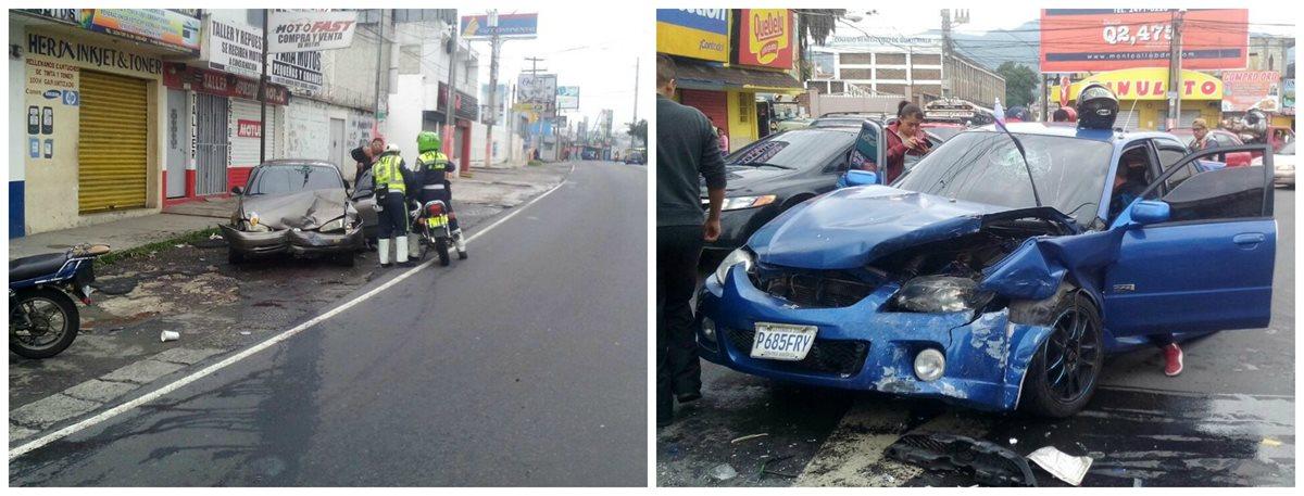 En la aldea Boca del Monte, Villa Canales, colisionan dos vehículos. (Foto Prensa Libre: Twitter)