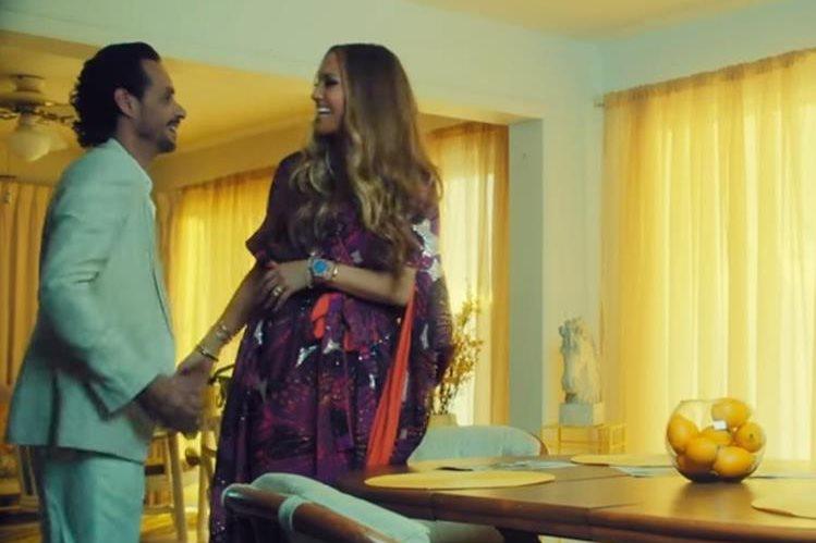 Jennifer López y Marc Anthony durante una de las escenas del video musical del tema Ni tú ni yo. (Foto Prensa Libre: YouTube)