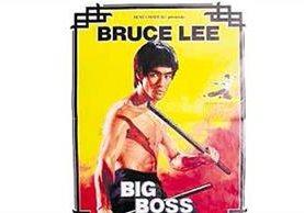"""En 1985 una cartelera de un cine guatemalteco promocionaba la película de Bruce Lee """"Big Boss"""". (Foto: Hemeroteca PL)"""