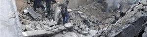 Bombardeos en Alepo.