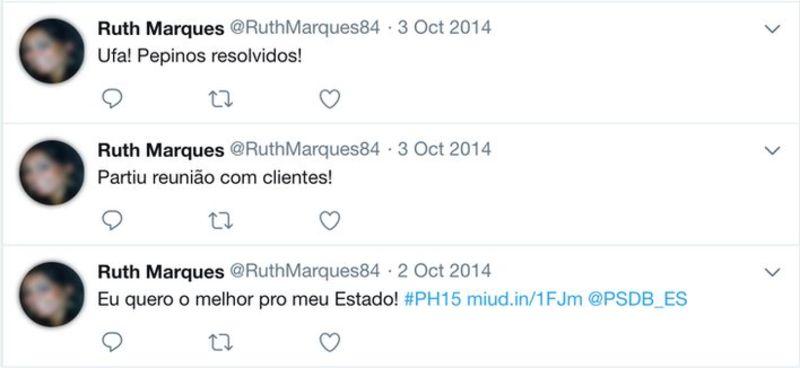 """Usaban fotos robadas en los perfiles. En esta cuenta de Twitter, el """"activador"""" expresó opiniones sobre el político Paulo Hartung. (Imagen: Twitter/reproducción)"""