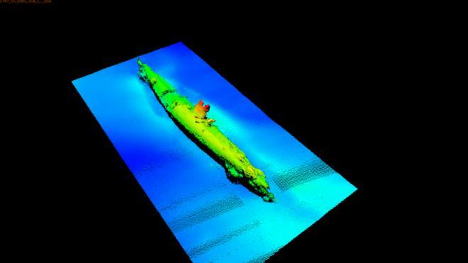 Un monstruo marino, dijeron sus tripulantes, fue el responsable del naufragio del submarino alemán UB-85 en el Mar de Irlanda. (SCOTTISH POWER)
