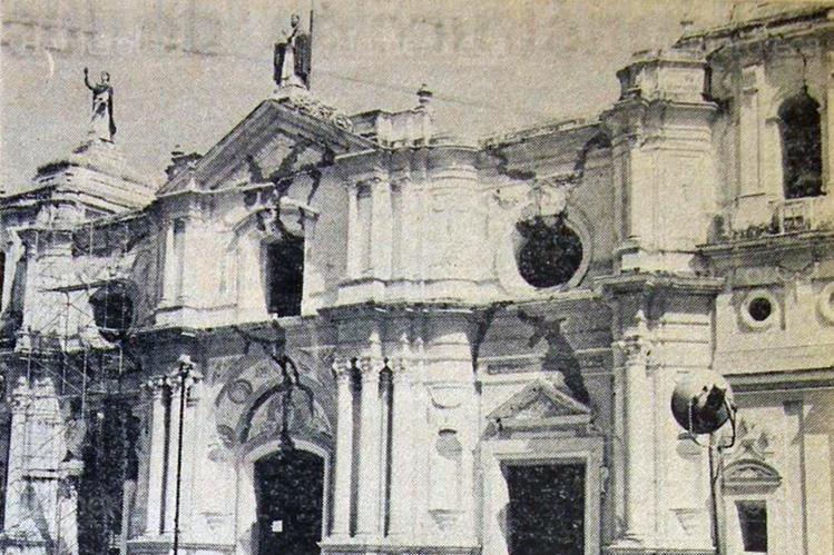 El terremoto de 1976, provocó serios daños en la estructura del templo de Santo Domingo. (Foto: Hemeroteca PL)