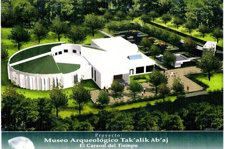 Imagen virtual de como habría sido el museo al ser concluido.