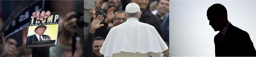 Donald Trump, el Papa y Barack Obama encabezan la lista. (Fotos Prensa Libre: AFP/EFE).