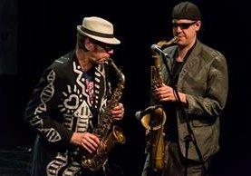 The Shuffle Demons es una banda canadiense que combina el jazz y el funk. (Foto Prensa Libre: Juan Pablo Vicente)