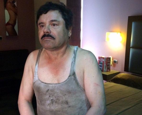 """Joaquín """"el Chapo"""" Guzmán, cuando fue detenido en un operativo en Los Mochis, Sinaloa el 8 de enero pasado. (Foto Prensa Libre: Hemeroteca PL)."""