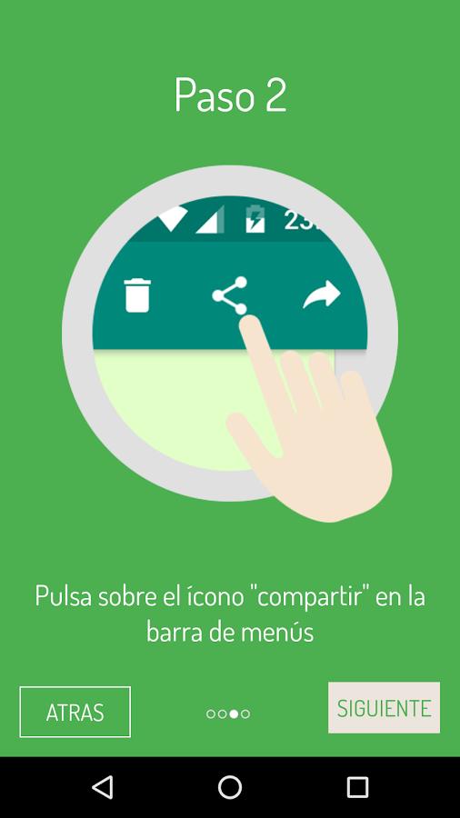 Debe compartir el audio con la app para que esta transforme su nota de voz en texto. (Foto Prensa Libre: Google Play).