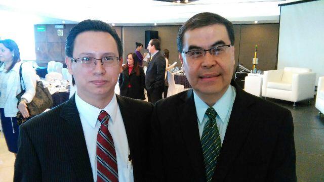 Johny Gramajo Marroquín y Óscar Roberto Monterroso Sazo, nombrados como gerentes del Banguat. (Foto Prensa Libre: Urías Gamarro)
