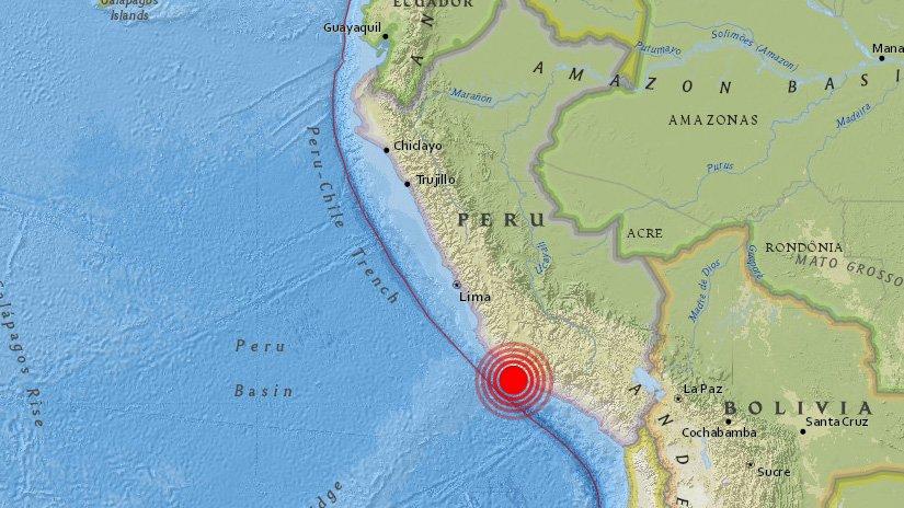 El sismo tuvo una magnitud de 6.8 en la escala de Richter y fue sensible en varias localidades de Perú, así como en Lima, su capital. (Foto Prensa Libre: @HDN_Perú)