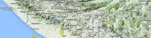 Mapa de últimos sismos.