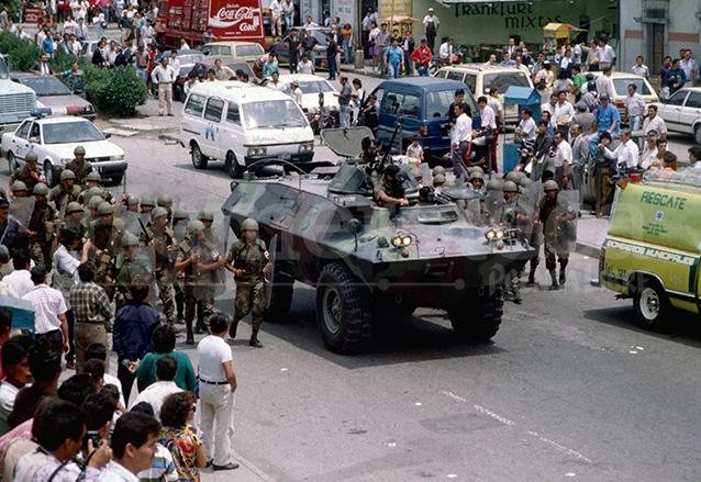 Durante el golpe de Estado entre el 25 de mayo y el 1 de junio de 1993 se vivieron momentos de tensión por la restricción de garantías.  (Foto: Hemeroteca PL)
