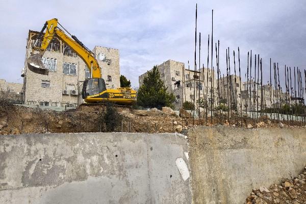 Obras de construcción del asentamiento de Ramat Shlomo, Palestina. (EFE).