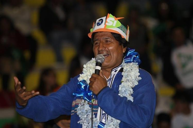 Evo Morales busca otro mandato en Bolivia. (Foto Prensa Libre: EFE)