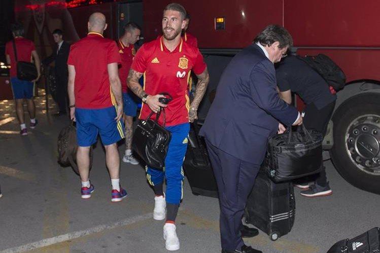 Sergio Ramos se unió a la selección española, luego de ganar la duodécima Copa de Europa con el Real Madrid. (Foto Prensa Libre: EFE)