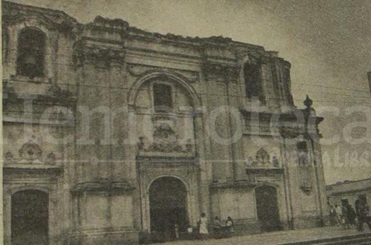 Fachada de la Iglesia de la Merced en 1981 luego de los daños provocados por el terremoto de 1976. (Foto: Hemeroteca PL)