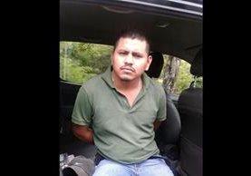El detenido fue identificado como Félix Adolfo Morales López de 24 años. (Foto Prensa Libre)