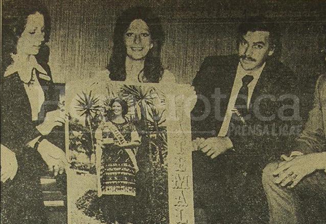 Emy Abascal ganó el premio especial por el Mejor Traje Típico en la competencia Miss Universo 1975. (Foto: Hemeroteca PL)