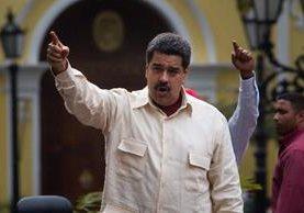 Nicolás Maduro, participa en una marcha del Congreso de la Patria, durante el aniversario 206.(EFE)