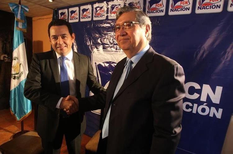 Jimmy Morales y Jafet Cabrera, binomio de FCN-Nación. (Foto: Hemeroteca PL)