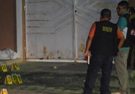 Lugar donde se registró el doble crimen, en la cabecera de Zacapa. (Foto Prensa Libre: Vítor Gómez).