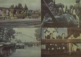 09/05/1989. Varios aspectos del intento de golpe de estado. (Foto: Hemeroteca PL)