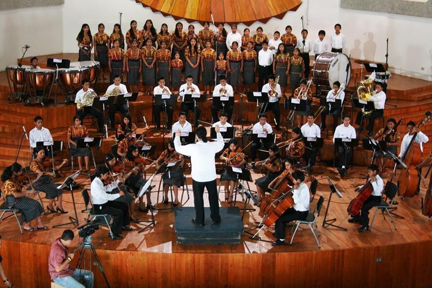 Orquesta Infantil Sonidos de Esperanza. (Foto Prensa Libre: World Vision)