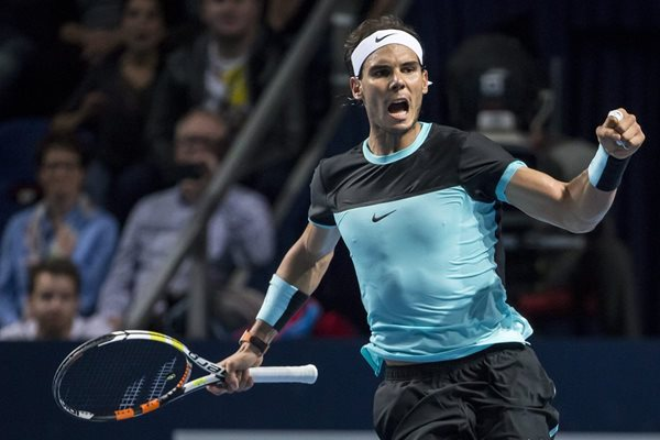 El español Rafael Nadal paso a la siguiente ronda en Suiza. (Foto Prensa Libre. AFP)