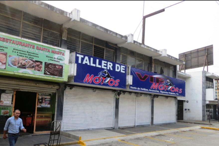 Edificio entregado como pago por honorarios a Mario Cano. (Foto Prensa Libre: MP)