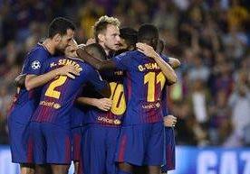 Los azulgranas disfrutan del debut de la Liga de Campeones