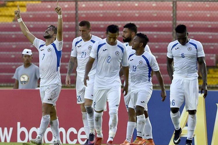 Los miembros de la selección de fútbol de Nicaragua regresaron hoy a su país con sensaciones encontradas. (Foto Prensa Libre: AFP)