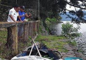 En el sector conocido como La Silla del Niño, Amatitlán, fue localizado un brazo. (Foto Prensa Libre: @PampichiNews)