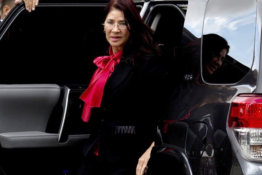 La primera dama de Venezuela, Cilia Flores, cuyos sobrinos enfrentan cargos por narcotráfico en Estados Unidos. (Foto Prensa Libre: AP).
