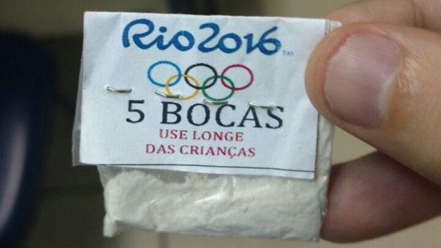 Hasta los narcotraficantes locales hacen marketing con los Juegos Olímpicos.
