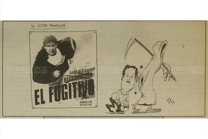 Caricatura de fo sobre muerte de pablo escobar foto hemeroteca pl