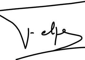 """La rúbrica de Felipe VI es bastante sencilla, el trazo de un travesaño sobre la letra F, para formar esa consonante, denota autoridad, imposición y don de mando. Sin embargo, el espacio en blanco entra la E y la l significa dependencia. Hay una """"firma regresiva"""", una delineación horizontal hacia la izquierda, a la zona de la familia."""
