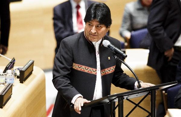Evo Morales, participa en el debate de alto nivel en la ONU.(EFE).