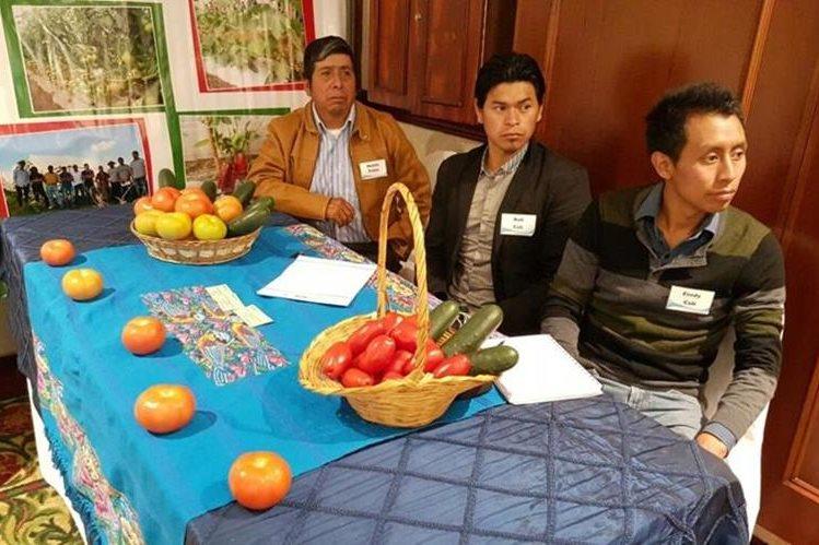 Pequeños agricultores exhibieron sus productos.